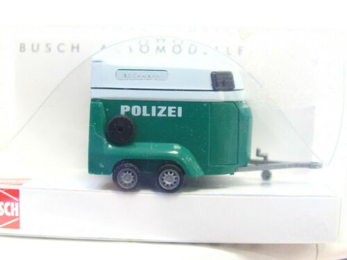 ln2607 Busch 1//87 44915 Chevaux Remorque de transport POLICE neuf dans sa boîte