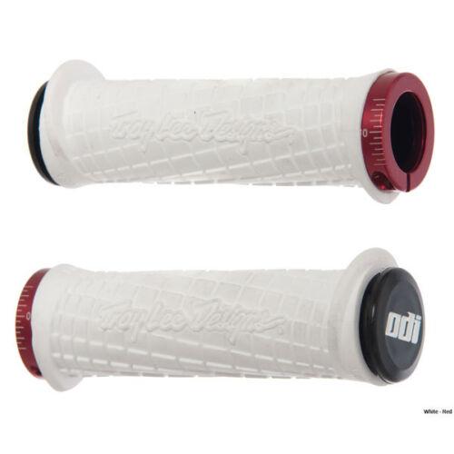 ODI TROY LEE Designs WHITE Lock-On PWC Grips RED Lock Jaws SEA DOO YAMAHA  KAWAS