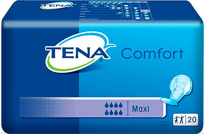 TENA Comfort Maxi - CASE (4pks x 20) - Disposable Shaped Adult Incontinence Pads