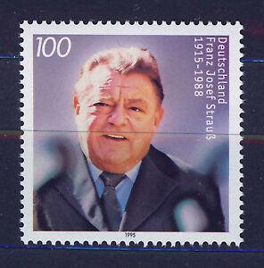 ALEMANIA-RFA-WEST-GERMANY-1995-MNH-SC-1905-F-J-Strauss-politician