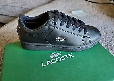 Lacoste Carnaby Evo BL 3 Black Synthetic Infant Trainers Shoes