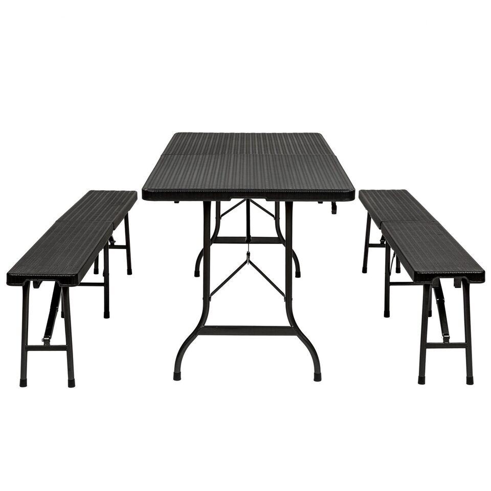 Bord og bænkesæt - Campingmøbler i polyrattan...