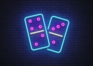 A1-Cool-Neon-Dominoes-Poster-Size-60-x-90cm-Classic-Game-Poster-Gift-16019