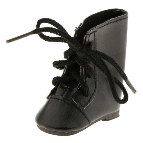 Fashion Shoes Lace up Boots for 14/'/' AG American Doll Wellie Wisher Doll Black