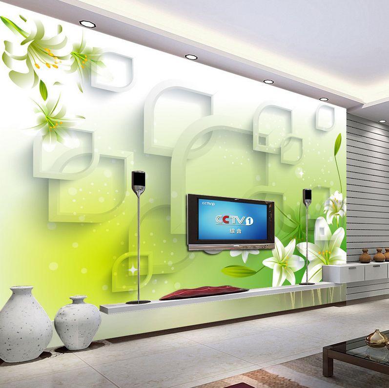 3D green modello Parete Murale Foto Carta da parati immagine sfondo muro stampa