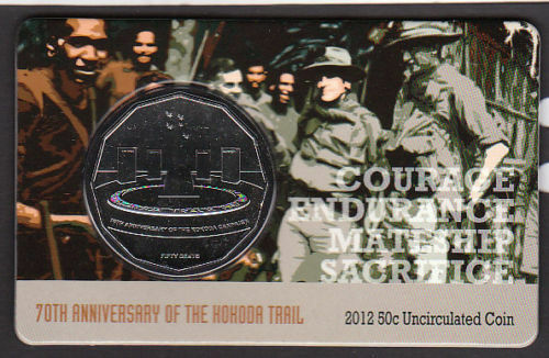 2012 70th Anniversary of Kokoda Trail 50c Fifty Cent Royal Australian Mint Coin*