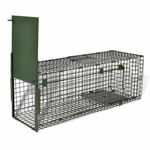 Live Catch Trap with 1 Door Humane Cat Fox Trap Small Mesh Holes Durable Garden
