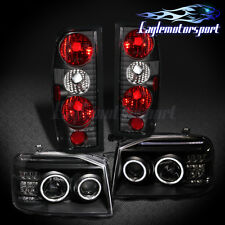 [CCFL Halo]For 2001-2004 Nissan Frontier LED Projector Headlights+Tail Lights