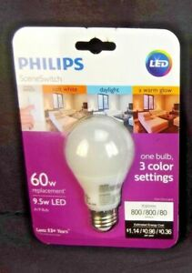 Philips Led A19 Sceneswitch Color Change Light Bulb Daylight Soft White Warm