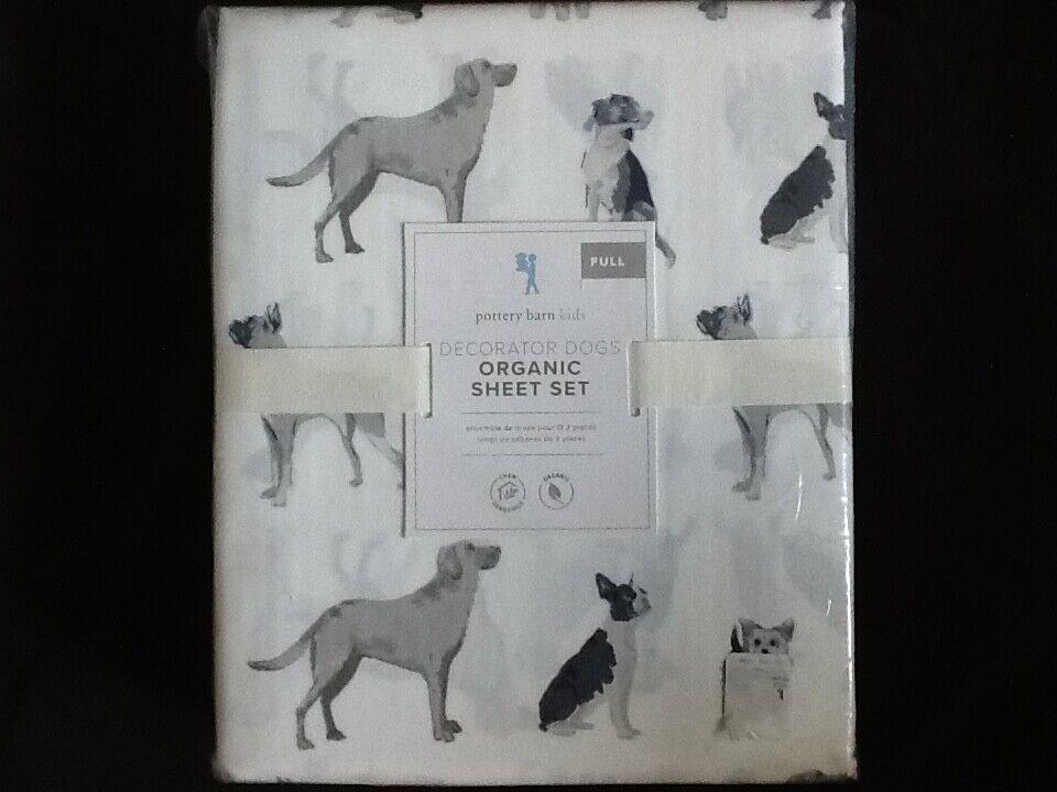 pottery barn dog sheets