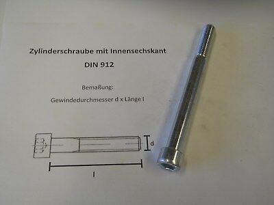 Innensechskant M 4 x 10 10x DIN 912 Zylinderschraube verzinkt farb 8.8 galv
