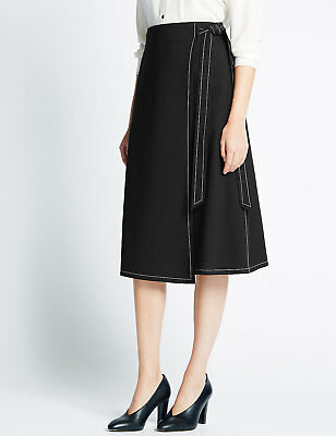Kreativ M&s Wrap Stitch A-line Midi Skirt 10/14/16 Rrp £29.50