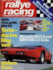rallye racing 12/83 1983 Mercedes 190 Brabus D&W Vestatec Lorinser Zender Murena