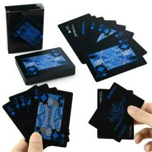 Waterproof-PVC-Poker-Black-Plastic-Creative-Magic-Table-Board-Game-Playing-Cards
