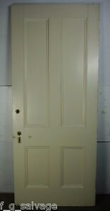 "Antique Vintage 4 Panel Interior Door 81"" X 33-3/4"" (J4) 1800's Local Pickup"