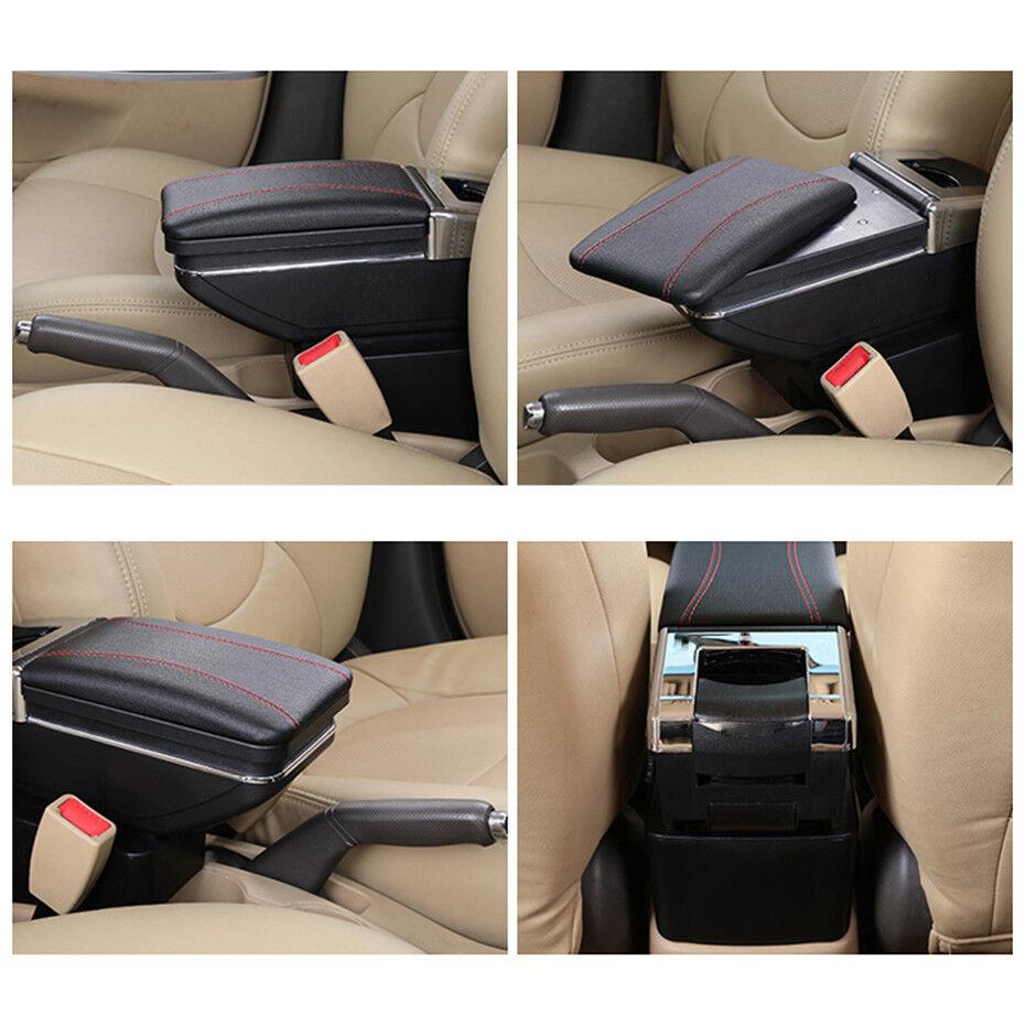 F/ür P eugeot 2004-2013 307 High-end Auto Armlehne Mittelarmlehne mittelkonsole Zubeh/ör Ladefunktion Mit 7 USB-Ports Eingebaute LED-Licht Beige