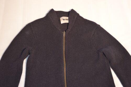 Normandie Navy Blu Cardigan con maglione zip Acne piccolo Studios Uomo in lana qwx85ESt