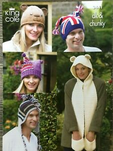 9a214783ec8 Image is loading King-Cole-Knitting-Pattern-Mens-amp-Ladies-Novelty-