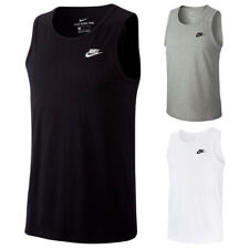 Nike Men's Tank Top Embroidered Logo & Swoosh Muscle Tee Cotton Tagless T-Shirt