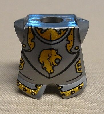 5 Lego Castle Minifig Silver Armor Breastplate Kingdoms Lion Head Pattern  New