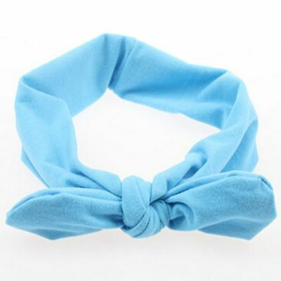 Knotted Plain Bow Cute Style Elastic Stretch Headband Hairband Hair Band Women