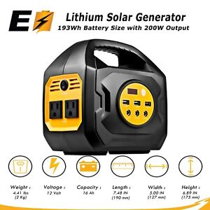 S200 Portable Power Station For Camping and Emergency Uses (Solar/Car/Wal