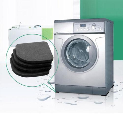4x Kühlschrank Pad Tischfuß Waschmaschine Rutschfeste Anti-Vibration Matten JO