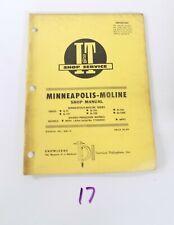Mm 18 Iampt Shop Service Manual Minneapolis Moline G Vi G 705 G706 G707 G708 G1000