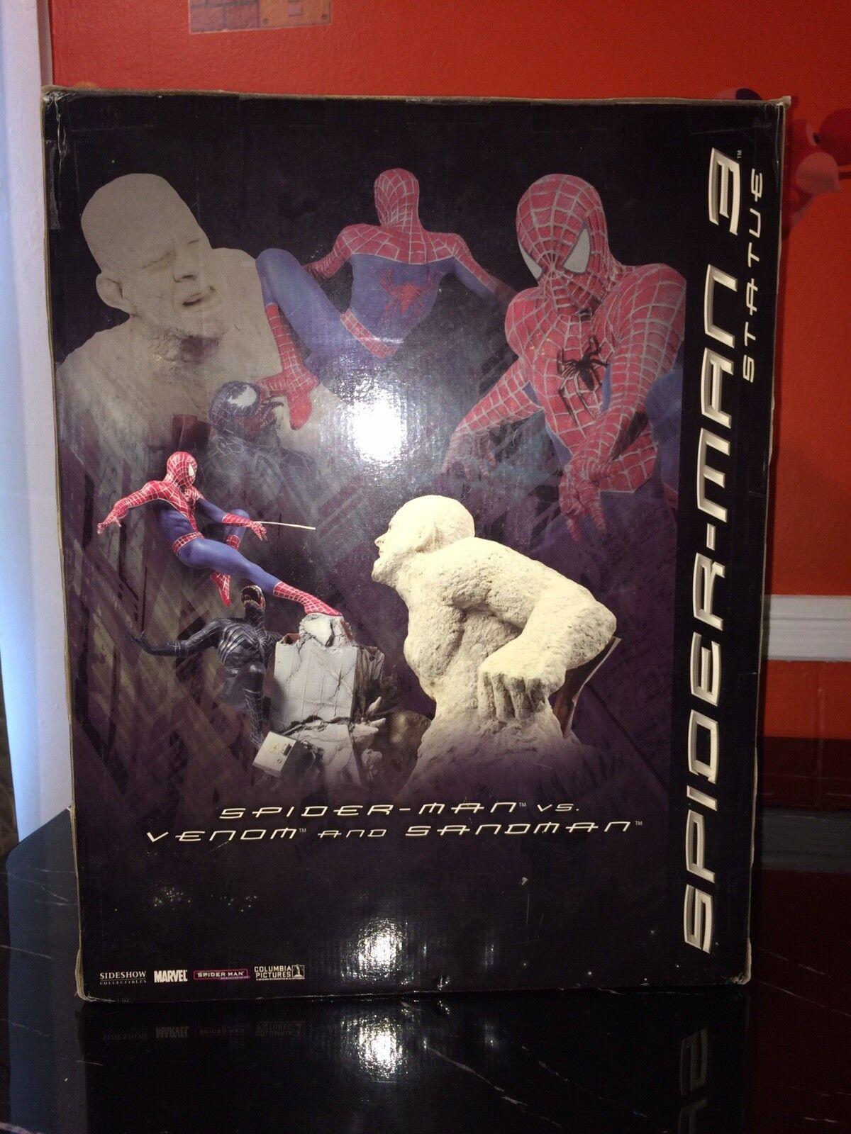 Sideshow  Spiderman Vs Venom And Sandman Diorama Spiderman 3 Statue