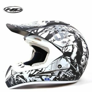 Motocross Black Open Face Red Motorcycle Crash Helmet Motorbike Vespa MX Biker