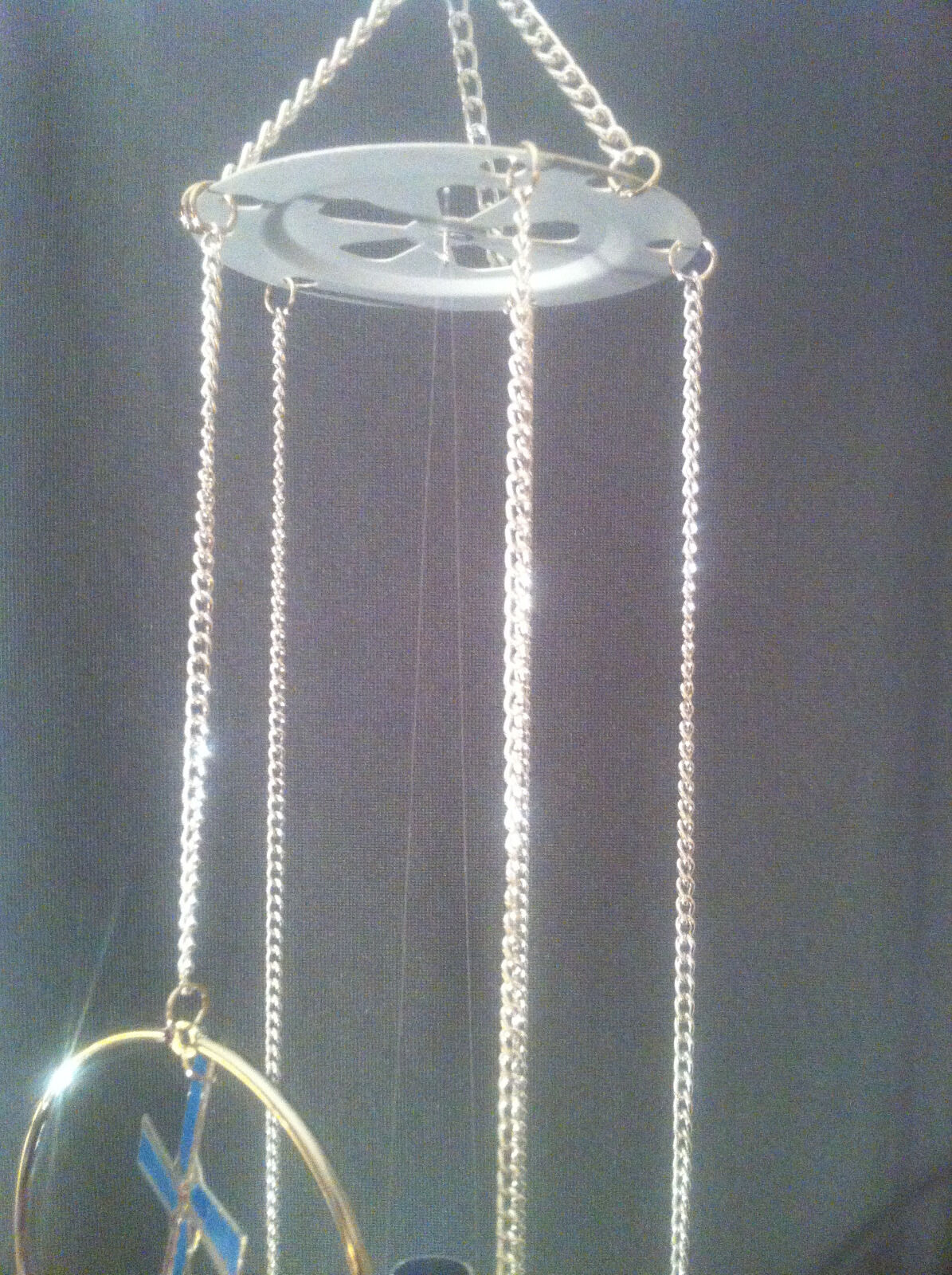 Cadona 5-Ring Aluminum Decorative Multicolor Windmill Wind Chime