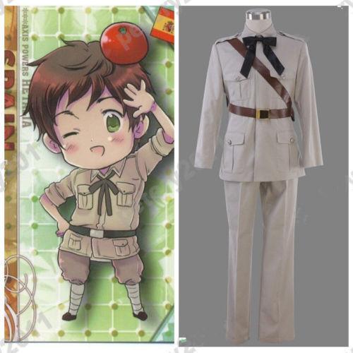 Axis Powers Hetalia Anime Spain Halloween Cos Cosplay Costume Clothes#NR