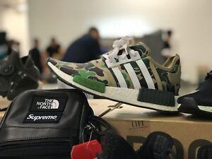 ff3b86309 bape x adidas nmd r1 camo Green Yeezy Element Nike React Uk7  Uk8.5 ...