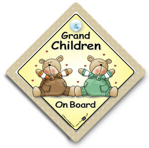 GRANDCHILD On Board Car Sign Grand Child On Board Baby On Board Car Sign,