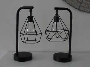 Retro black geometric wire industrial led light bulb bed side table image is loading retro black geometric wire industrial led light bulb keyboard keysfo