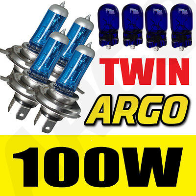 4 X H4 472 XENON SUPER WHITE 100W DOUBLE TWIN PACK SET HEADLIGHT HEADLAMP BULBS