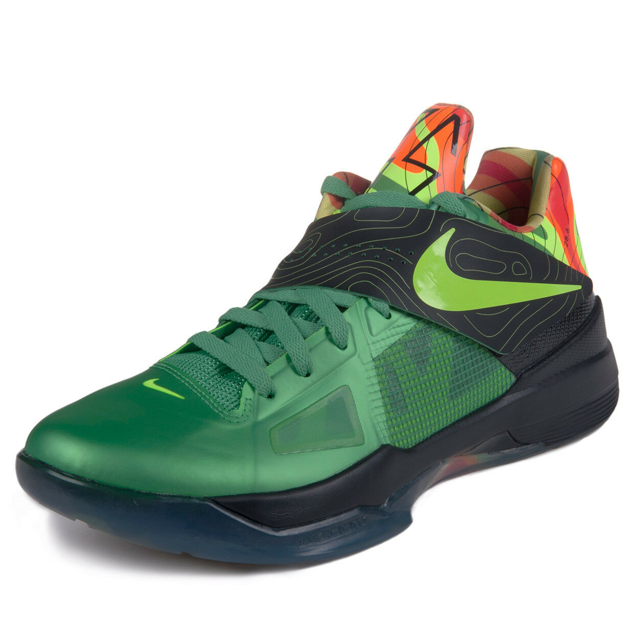 Nike Mens Zoom KD IV  Weatherman  Green Volt-Black-orange 473679-303 SZ 10.5