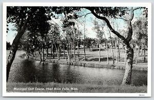Thief-River-Falls-Minnesota-Municipal-Golf-Course-Water-Hazard-1943-Blue-Sky-PC