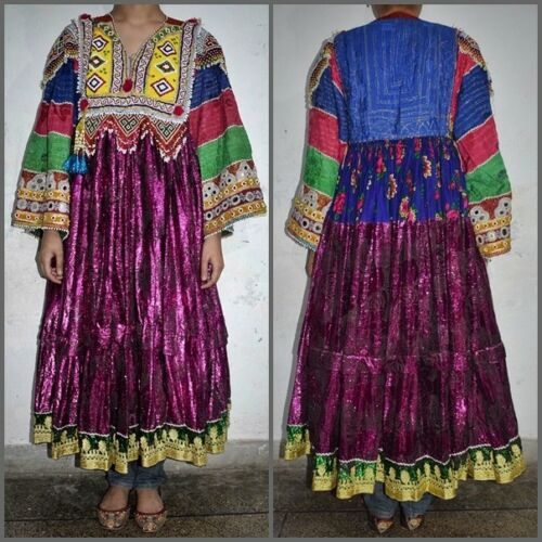 Afghan Nomad Banjara Unique dress 60s 70s Vintage