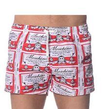 moschino mens red White Blue swim shorts size 48 It 32 W