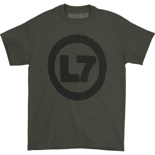 L7 Men/'s  Spray Logo Tee T-shirt Charcoal