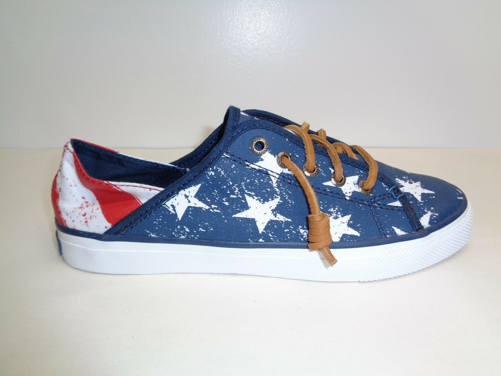 Sperry Size 9 SEACOAST ISLE STARS AND STRIPES Fashion Sneakers New Womens Shoes