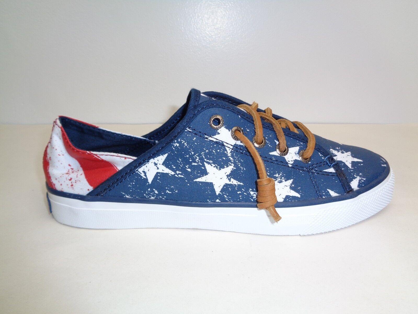 Sperry Sze 9.5 SEACOAST ISLE STARS AND STRIPES Fashion Sneakers NEU Damenschuhe Schuhes