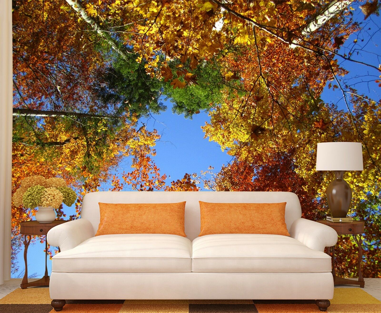 3D Leaves sky Wall Paper Print Decal Wall Deco Indoor wall Mural