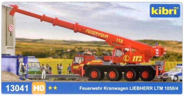 Kibri 13041 H0 - Feuerwehr Kranwagen Liebherr LTM 1050 NEU & OvP