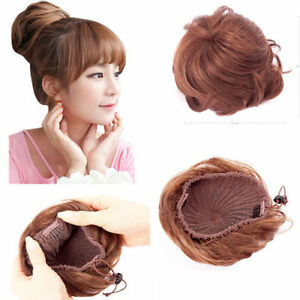Details About 100 Human Hair Braided Hair Bun Extensions Clip On Updo Hair Pieces Only 9 99