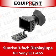 Sunrise 3-fach DSLR Displaylupe / Viewfinder ohne kleben für Sony SLT-A65 EQ939