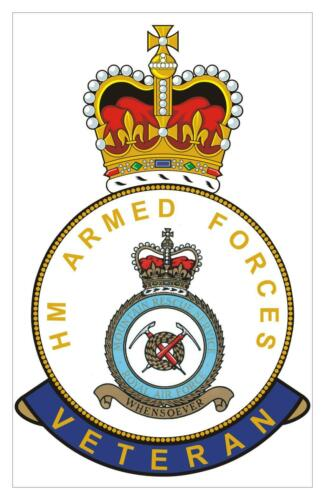 Classic  HM armed Forces RAF Royal Air Force Mountain Rescue Veterans Sticker