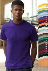 Fruit-of-the-Loom-coton-uni-Valueweight-T-shirt-S-M-L-XL-XXL-XXXL-XXXXL