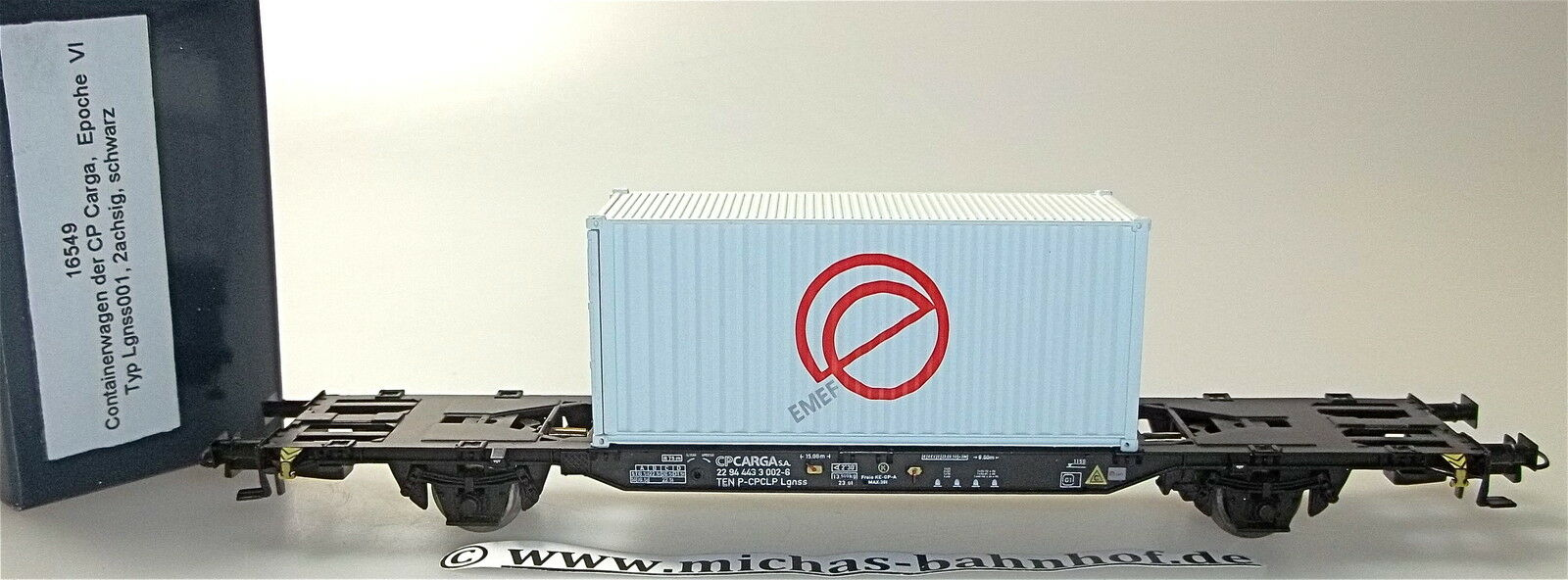 Wagon 2 axle lgnss container traffic 001 cp cargo emef container ep4